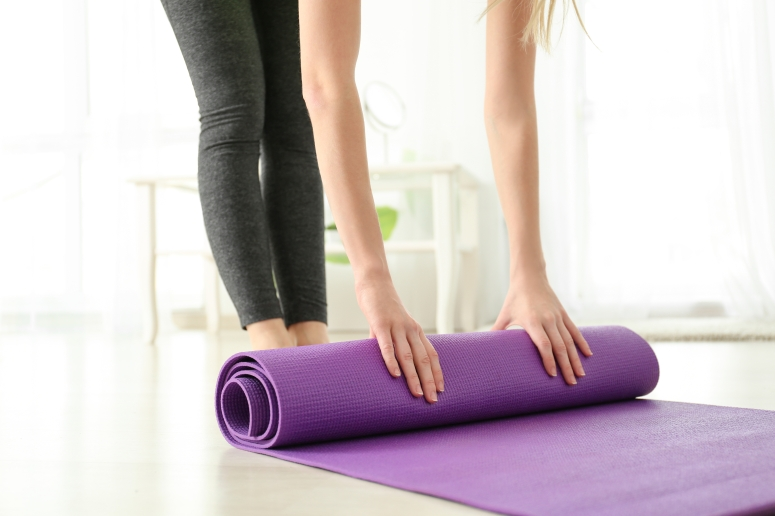 pilates rolling mat